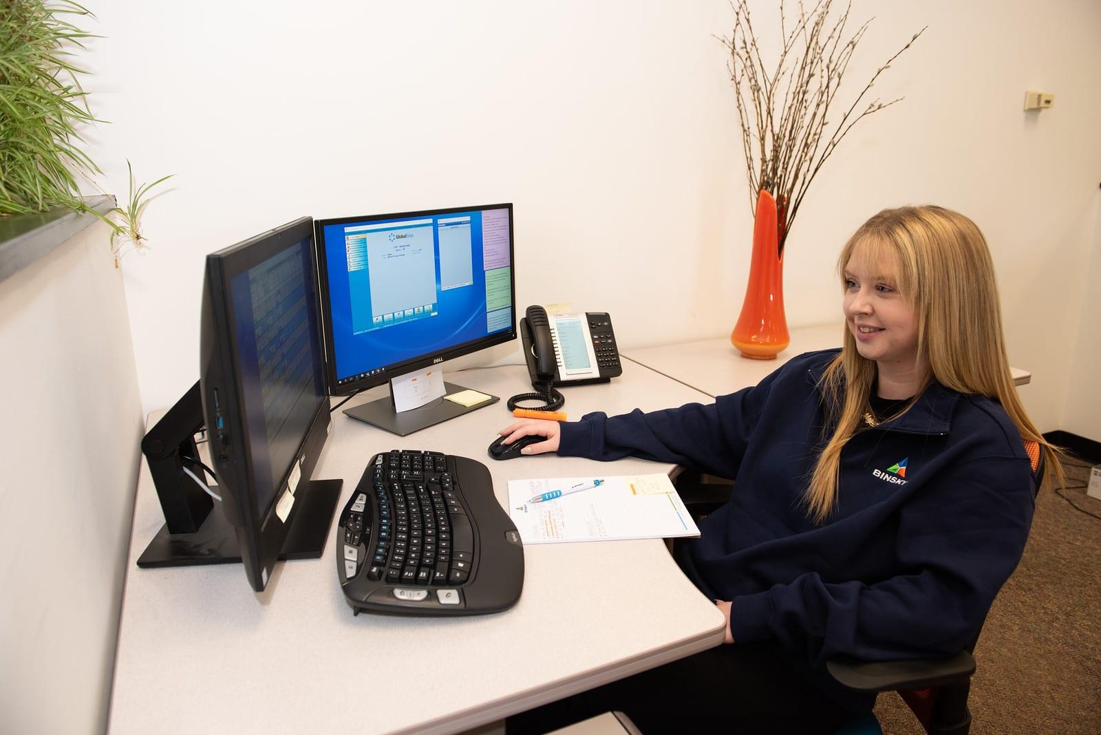 Binsky Customer Service Department