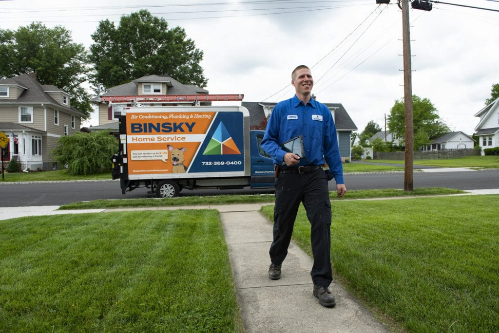 Binsky Home Services visit